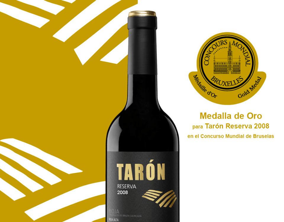 Premio Bruselas Bodegas tarón vinos La Rioja premios
