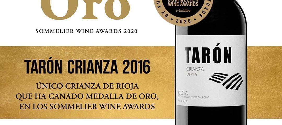 Tarón Crianza ORO Sommelier Wine Awards