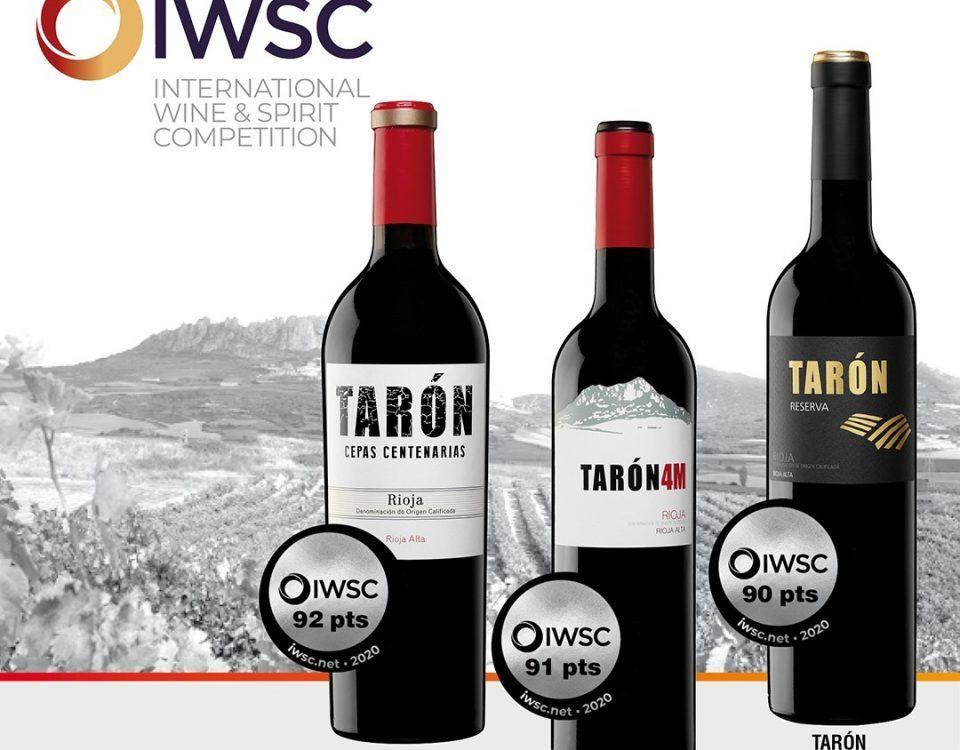Premios Bodegas Tarón IWSC 2020